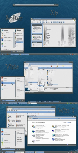 WindowBlinds Skins: Softer (xp, vista, win7)
