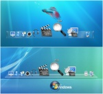 Windows 7 and Leopard Docks by adni18