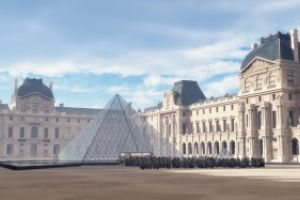 Early Morning at the Louvre by kenwas