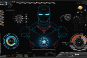 Shield Ironman Jarvis Rainmeter Theme Screenshot By