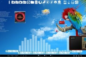 Tropical Breeze Desktop for Rainmeter by Ionstorm_01