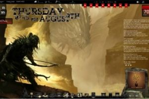 Dragon Hunt Rainmeter Desktop by Ionstorm_01