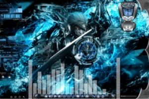 Metal Gear Rising Animated Desktop for Rainmeter by Ionstorm_01