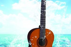 Water With Gitar  by dindayalsoni
